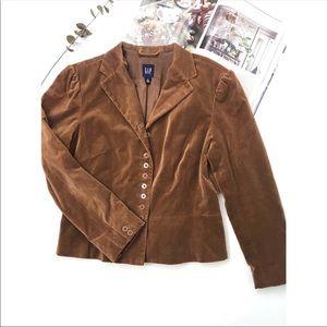Gap tan velvet classic blazer